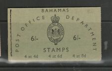 Bahamas Booklet 1961 6/- Green, Inverted stamps, SG SB3