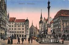 B107943 Germany Muenchen Marienplatz Square Rathaus Cafe real photo uk