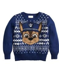 Nwt Toddler Boys 4t Paw Patrol Chase Holiday Sweater
