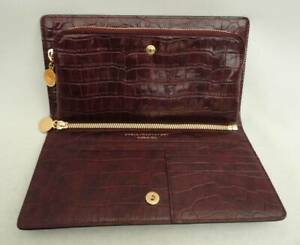 STELLA MCCARTNEY Croc Print Clutch + Wallet Purse New Falabella Bag Auth