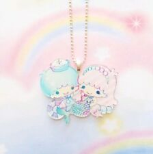 New Kawaii Mermaid Little Twin Stars Necklace Jewelry Fairy Kei Cosplay Anime