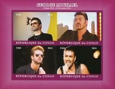 Congo 2018 MNH George Michael 4v IMPF M/S II Celebrities Popstars Music Stamps