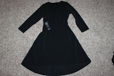 NWT The Limited black Ribbed high-low Long Sleeve Mid-Length Skater Dress XS