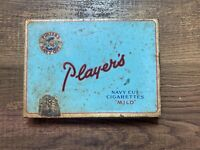 """Players Navy Cut Cigarettes """"Mild"""" Tobacco Tin Imperial Tobacco Co.  Vintage"""