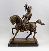 9937838-dss Escultura Bronce Plástico Marochetti Caballero a Caballo 46X 17X
