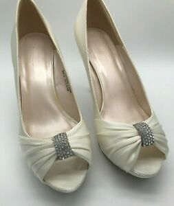 Davids Bridal Diana Ivory Size 10 Womens Shoes Wedding Brand New in Box
