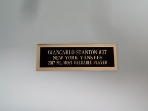 "Giancarlo Stanton Nameplate For An Autographed Baseball Ball Card Plaque 1"" X 3"""
