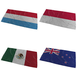 World Flags Wavy Design Bath / Beach Towel ( Variation 4 ) - Large