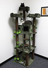 "75"" TALL ""REDWOOD"" FOREST THEMED CAT TREE - FREE SHIPPING IN THE UNITED STATES"