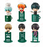 Gintama Ochatomo Yorozuya cafe mini figure toys gift coffee cup friends with box