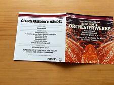 3 CD G F Händel : Berühmte Konzerte Wassermusik Feuerwerksmusik Concerti opus 3