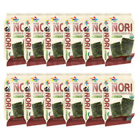 Organic Seasoned Roasted Seaweed Snacks 12 PK Korean B.B.Q.  Kim Nori