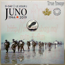 1944-2019 75 Anniversary Normandy Campaign D-Day Juno Beach $3 Pure Silver Coin
