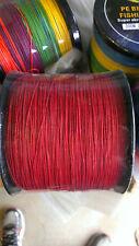 NEW 1000m Red 50lb braid fishing line