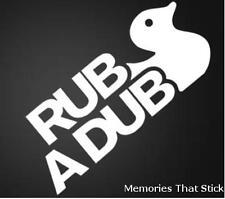 Rub a Dub Window Bumper Funny Novelty JDM VW EuroDUB Vinyl Decal Sticker