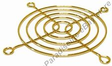 "80mm/3""inch/8cm Metal Wire Box/Case Fan Grill/Finger Guard/Protector/Cover{GOLD"