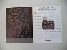 advertising Pubblicità 1988 POLAROID IMPULSE