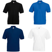 3 FRUIT OF THE LOOM POLO SHIRTS 4 COLOURS S-XXL - NEW!!