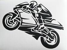 adesivo MOTO motorcycle PILOT pista strada honda yamaha suzuki ktm bmw RACING