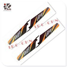 2X MAIN BLADES SET ORANGE COLOR WLTOYS V911 RC HELICOPTER SPARE PARTS V911-02