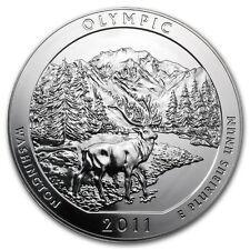 2011 5 oz Silver ATB Coin Olympic, WA - America the Beautiful - SKU #62425