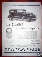 Publicité Automobiles GRAHAM-PAIGE 1930
