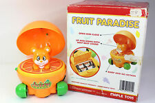 Vintage Fruit Paradise Pet Toy Rare Battery Operated Juicy Orange Maple Toys
