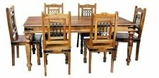 Brand New Jali  Indian Solid Sheesham Wood-175cm DINING TABLE AND 6 CHAIRS