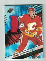 Juuso Valimaki 2018-19 18-19 Upper Deck SPx JERSEY RELIC Rookie #R-JV FLAMES
