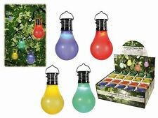 Solar LED Light Bulb Lighting Festbeleuchtung Party Garland Garden 4 Piece