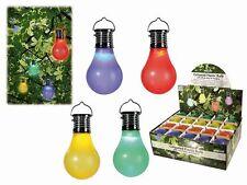 Solar LED Glühbirne Beleuchtung Festbeleuchtung Partygirlande Garten 4 Stück