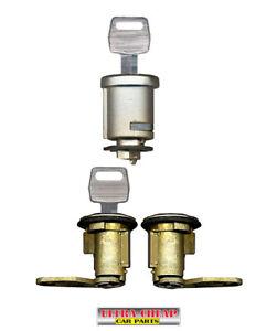 Ignition Barrel Door Locks Ford F100 F150 F250 F350 1981-10/1991 New Set + Keys