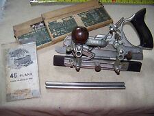 Stanley No 45 Combination Plane with Cutters in boxes Accessories