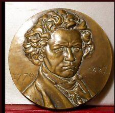 MÉDAILLE BRONZE BEETHOVEN MUSICIEN ALLEMAND 1770 1827