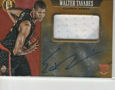 WALTER TAVARES RC ON CARD AUTOGRAPH 2COL JERSEY #/49 2015-16 GOLD STANDARD AUTO