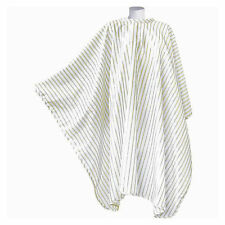 PRO DMI VINTAGE BARBERING CAPE WHITE/GOLDPINSTRIPE POLYESTER PERFECT BARBERS