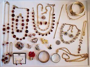 Vintage Mod Jewelry LOT Swarovski Kramer Joan Rivers Monet Carolee Avon Cerrito+