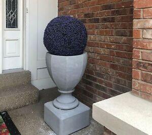"""Wicker Park 13"""" Faux Lavender Floral Garden Sphere"""