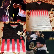 NEW Nike Challenge Court Hot Lava Andre Agassi T-Shirt CooL Max Technology