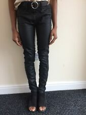 Next Jeans Leather Look Skinny Jeans Size 8R