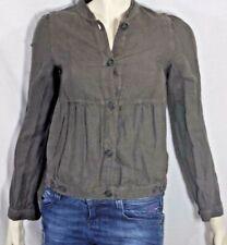 COMPTOIR DES COTONNIERS Taille 34 Superbe veste taupe en lin DILL