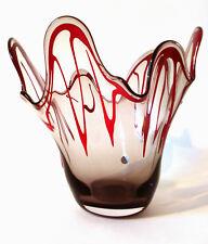"Vidrio pañuelo jarrón Sarner cristal 2,2 kg ""sergio"" swiss fazzoletto glass bowl"