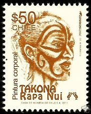 CHILE, EASTER ISLAND BODY PAINTING, TAKONA, RAPA NUI, MNH, $ 50