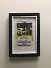 More details for u2 ticket (photo copy) framed 7 x 5.5 inches roughly joshua tree tour cardiff 87