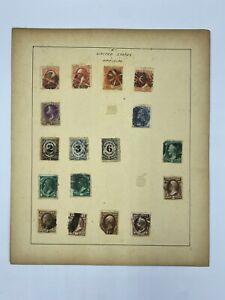 17pc Lot Antique U.S. Revenue Stamps 2, 3, 6, 7, 10, 12, 24 Cents Dept Treasury