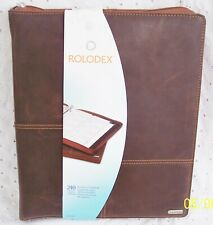 Business Card Book 240 Capacity Zipper Closure By Rolodex