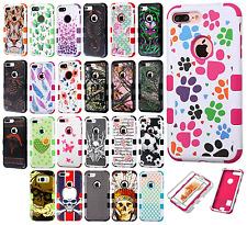 For Apple iPhone 7 & 7 PLUS IMPACT TUFF HYBRID Case Skin Cover + Screen Guard