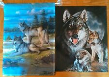 New listing Wolves Momma & Puppies Tin Metal Sign New Graham And Wolves Flag