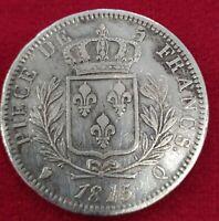 Francia 5 Francos. Plata Luis XVIII 1815 Q ( PERPIGNAN)