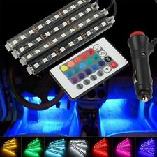 9LED Auto Interni RGB Controllo Wireless di Musica Decorativo Striscia Luminosa